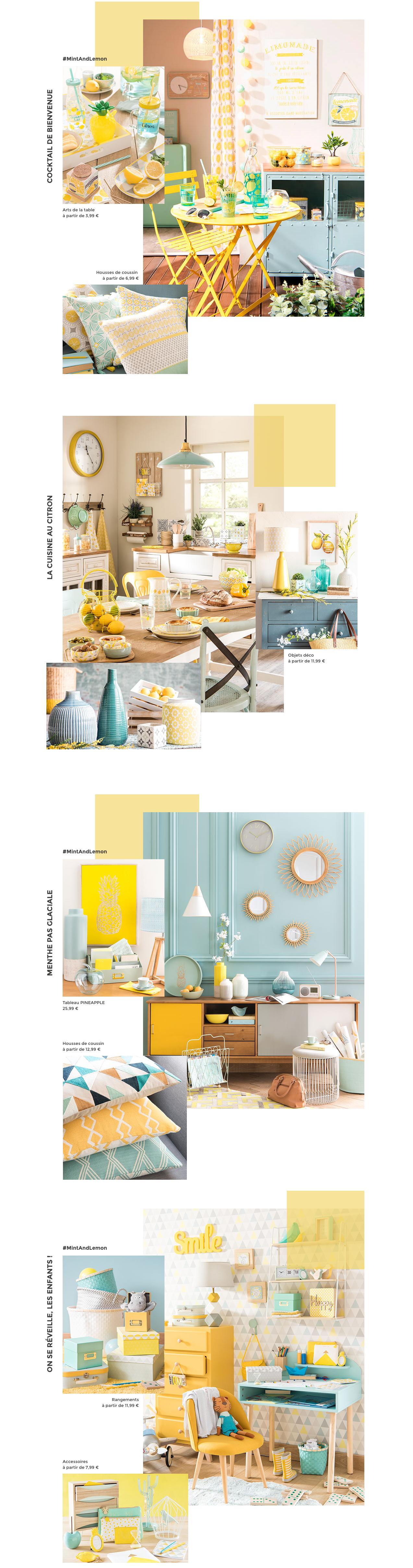 collection mint et lemon maison du monde