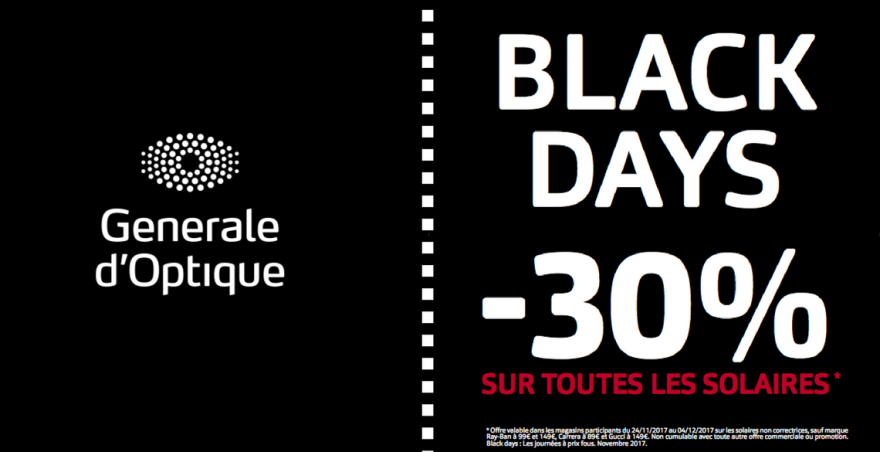 black friday generale d'optique