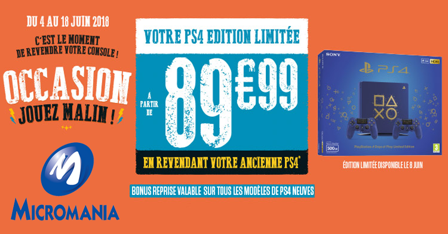 Micomania PS4 édition limitée